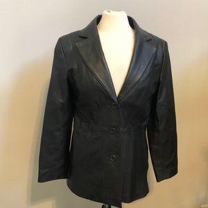 Worthington black leather jacket size small